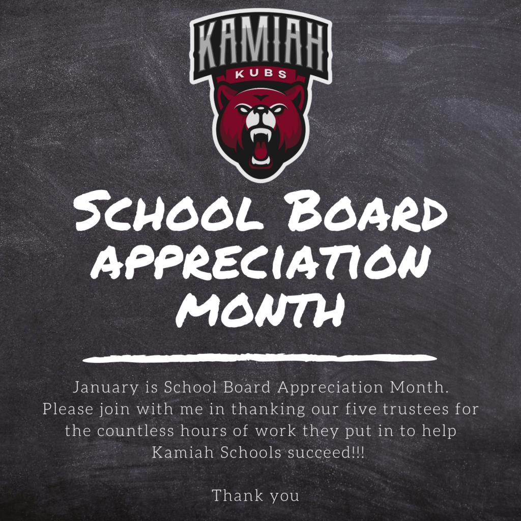 School Board Appreciation Month
