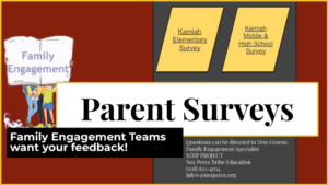 image of Parent Survey flyer